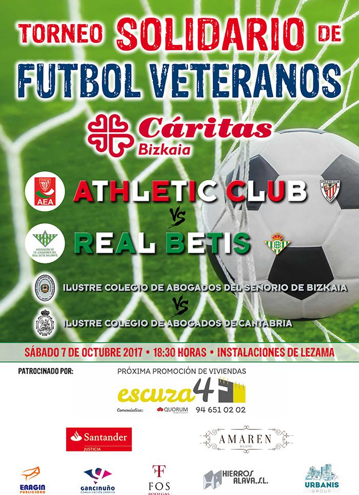 Torneo Solidario de Fútbol Veteranos, a beneficio de Caritas Bizkaia